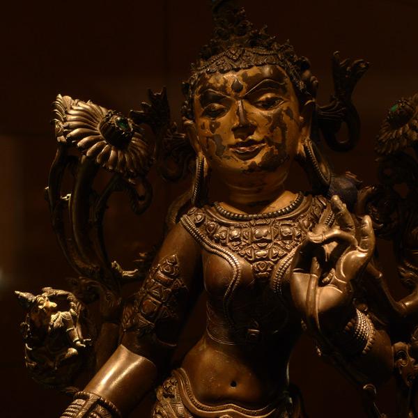 北京首都博物馆,铜泥度母像