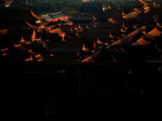 日落紫禁城