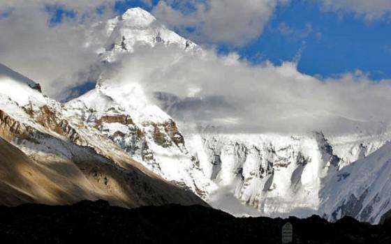 珠穆朗玛峰和高程碑