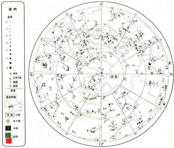 中国古代星宿和国际通用星座名的对照(北天区部分)
