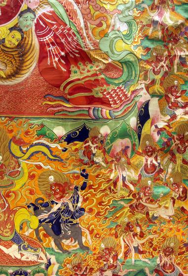 马头金刚(局部),四川博物馆藏