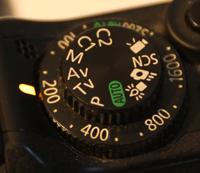 相机的摄影参数拨盘