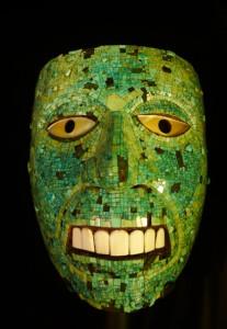 绿松石镶嵌面具·大英博物馆