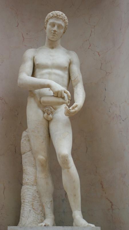涂油的运动员·卢浮宫平淡的视角