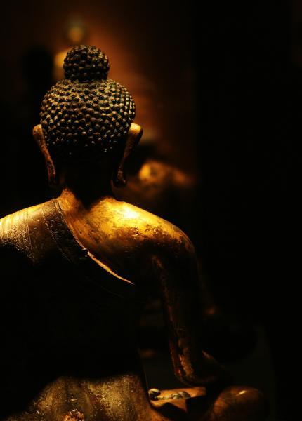 铜鎏金释迦牟尼像·首都博物馆 摄影@踏刃而行