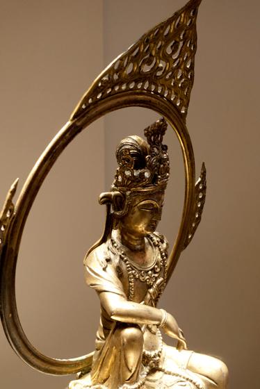 鎏金铜观音坐像·国家博物馆