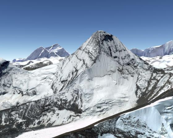 Google Earth模拟马卡鲁峰北方小峰