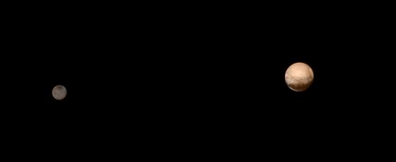 冥王星和卡戎·图片来自NASA