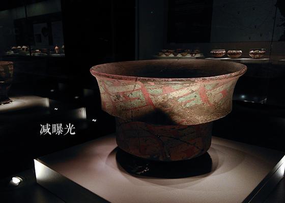 陶寺文化·彩绘陶盆·使用减曝光拍摄