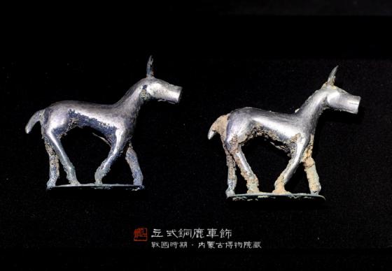 立式铜鹿车饰